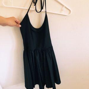 black, skater dress